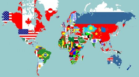 Outline maps of the countries