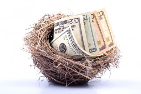Photo for Nest Egg with money - Royalty Free Image