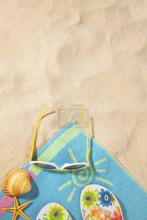 concept de plage avec serviette
