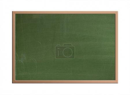 Photo pour Tableau noir vierge, isolé sur blanc avec chemin de coupe - image libre de droit