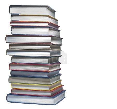 Bücher gestapelt, isoliert