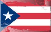 Grunge flag series-Puerto Rico