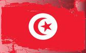 Grunge flag series-Tunisia