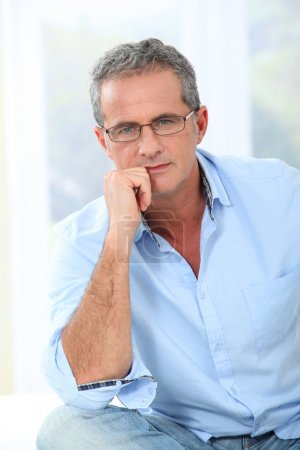 Photo for Portrait of handsome man with eyeglasses - Royalty Free Image
