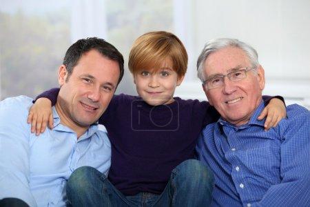 Three-generation family portrait