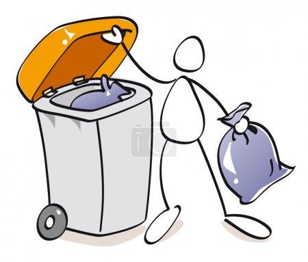 Photo pour Poubelle pour le recyclage du compost - image libre de droit