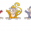 Three wise indian monkeys: don't see, don't hear i...