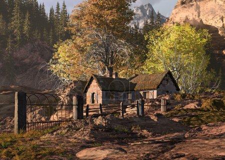 Mountain Cottage Landscape