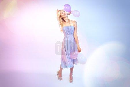 Young woman celebrates