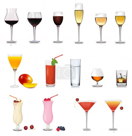 Set of cocktail. Vector illustration.