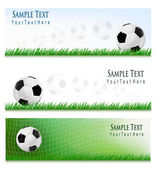 Two football backgrounds Vector