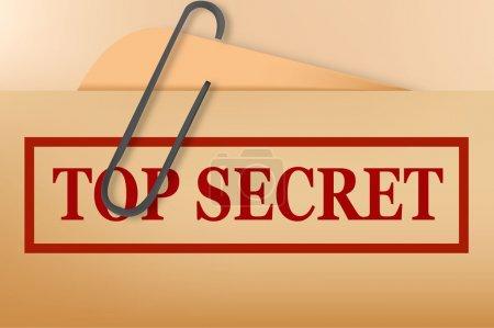 Illustration pour Dossier top secret avec un léger grunge. Vecteur . - image libre de droit