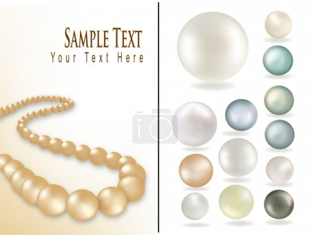 Perls isolated on white background