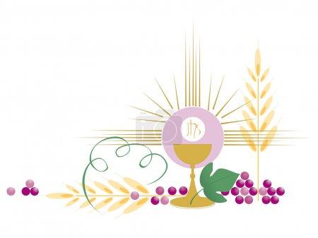 Illustration pour Symbole chrétien, la communion - image libre de droit