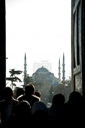 Silhouettes and the Blue Mosque