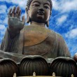 Isolated image of Buddha's head giant statue...