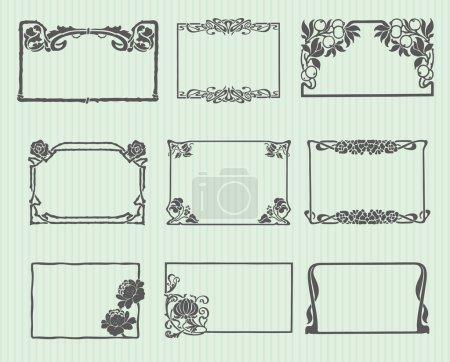 Art Nouveau Frame Set