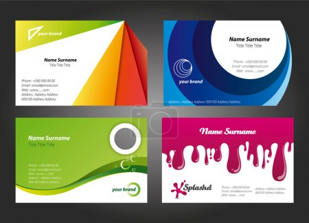 Modern and Colorful Business Card Designs