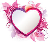 Pink Heart Floral Background