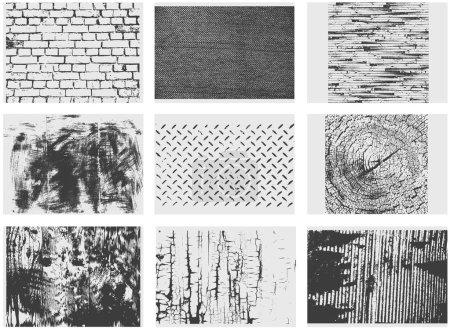 Photo pour Une collection de textures vectorielles grunge de 9 pièces - image libre de droit