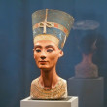 BERLIN - SEPTEMBER 2005: Famous bust of Queen Nefe...