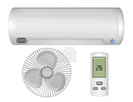 Air conditioning, ventilator and control