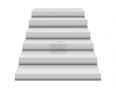 Photo for White steps illustration isolated over white background - Royalty Free Image