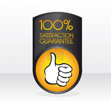 100 satisfaction guarantee sign