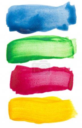 Foto de Pinceladas colores acuarela - Imagen libre de derechos