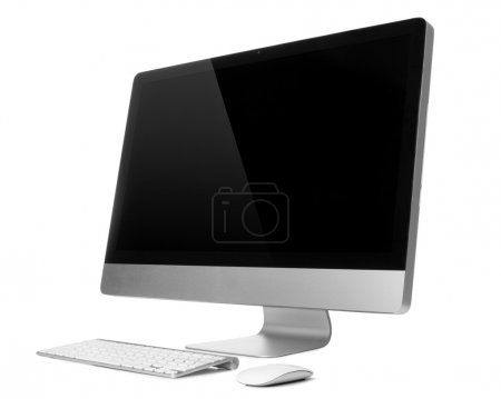 Photo for Desktop computer with wireless keyboard and mouse - Royalty Free Image