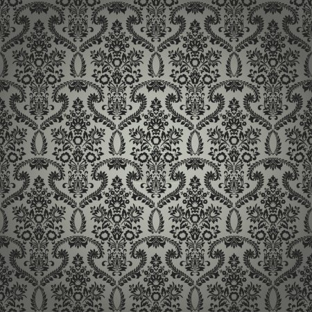 Illustration for A seamless classic retro wallpaper pattern created in Adobe Illustrator. Nice to use as background. - Royalty Free Image