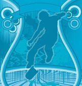 Skater Grunge Poster Vector