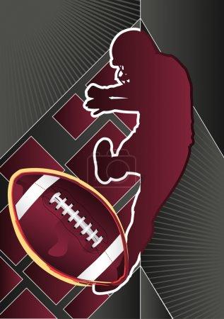 Sport Design Poster Series American Football. Vector Illustration.