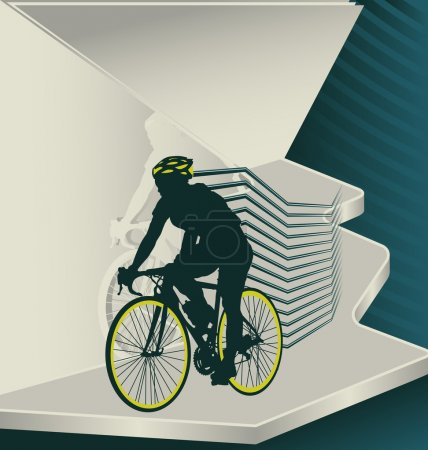 Modern designed sport vector background. Cycling.
