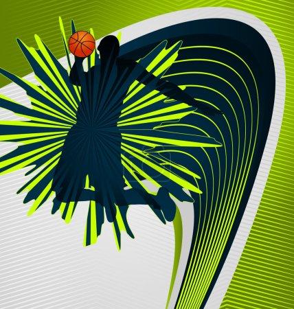 Modern dynamic designed sport vector background. Basketball