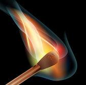 Off match light burn flame wood fire smoke