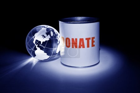 Globe and Donation Box for background...