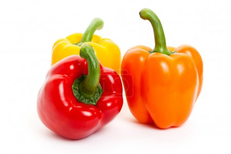 Photo for Bell Pepper with white background - Royalty Free Image