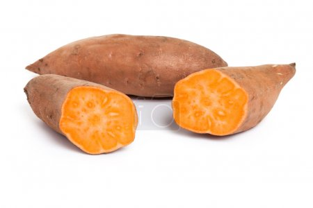Photo for Sweet Potato with white background - Royalty Free Image