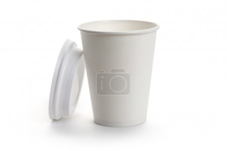 Photo for White Paper Cup close up - Royalty Free Image