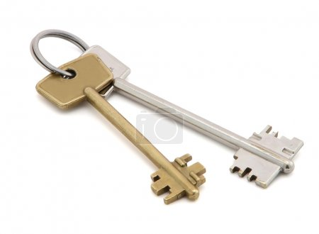 Photo for Keys, isolated on the white background. - Royalty Free Image