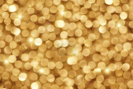 Golden background.