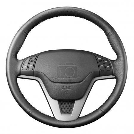 Steering wheel.
