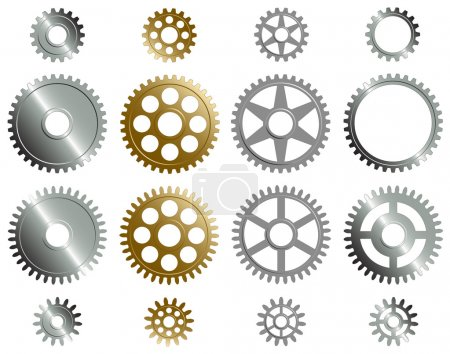 Illustration for Vector format of various gears. - Royalty Free Image