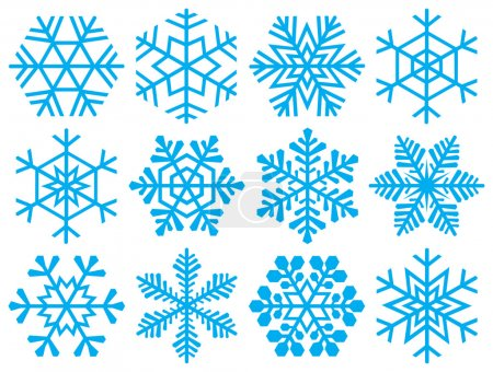 Collection of snowflakes.
