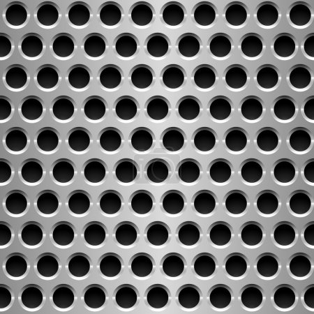 Perforated metal plate.