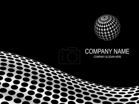 Illustration for Abstract company page. - Royalty Free Image