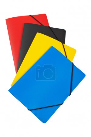 Photo for Colour folders isolated on white background. With clipping path included - Royalty Free Image