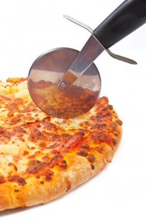 Italian pizza and cutter