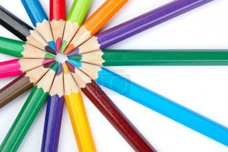 Colored school pencils